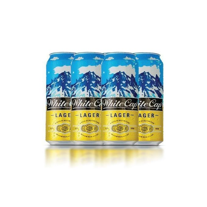 White Cap Lager Can 6 Pack