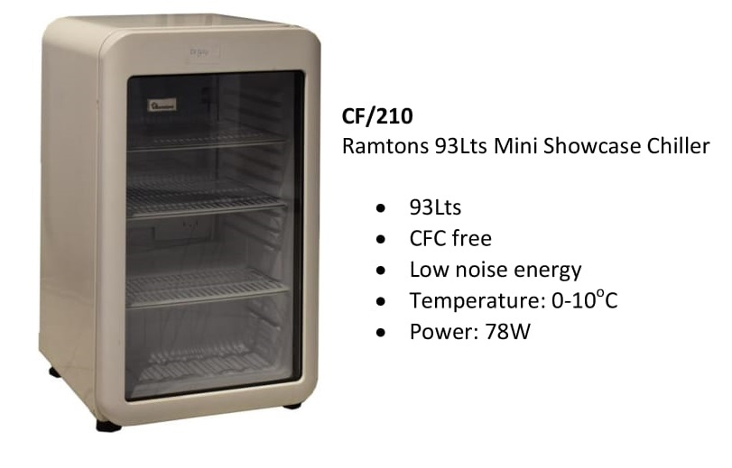 Ramtons 93Lts Mini Showcase Chiller